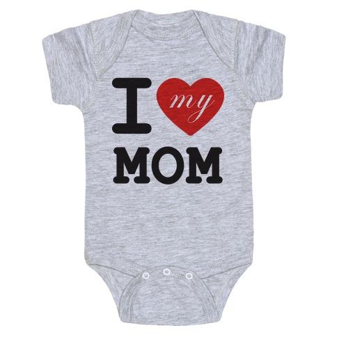 I Love Mom Baby Onesy