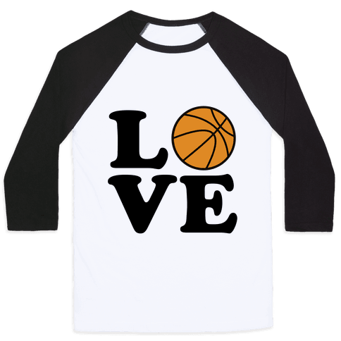 Love Basketball Baseball Tee
