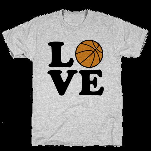 Love Basketball Mens T-Shirt