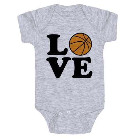 Love Basketball Baby Onesy