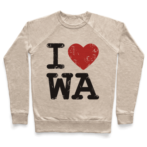 I Love Washinton Pullover