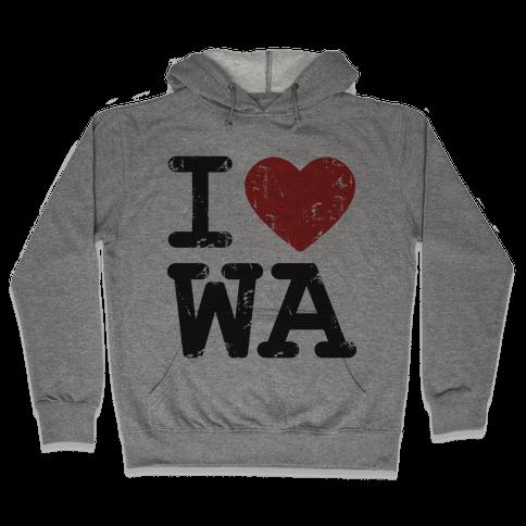 I Love Washinton Hooded Sweatshirt