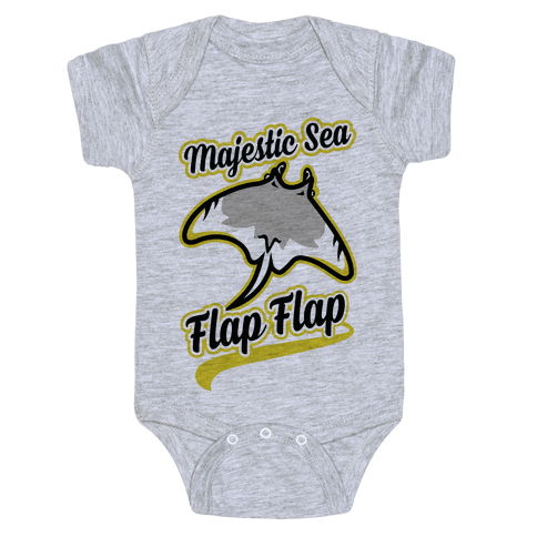 Majestic Sea Flap Flap Baby Onesy