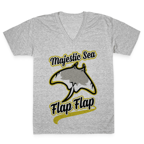Majestic Sea Flap Flap V-Neck Tee Shirt