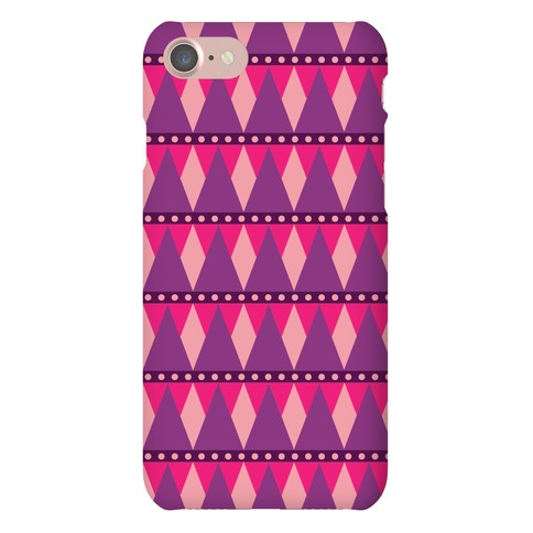 Pink Triangle Pattern Case Phone Case