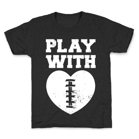 Play With Heart (Football) Kids T-Shirt