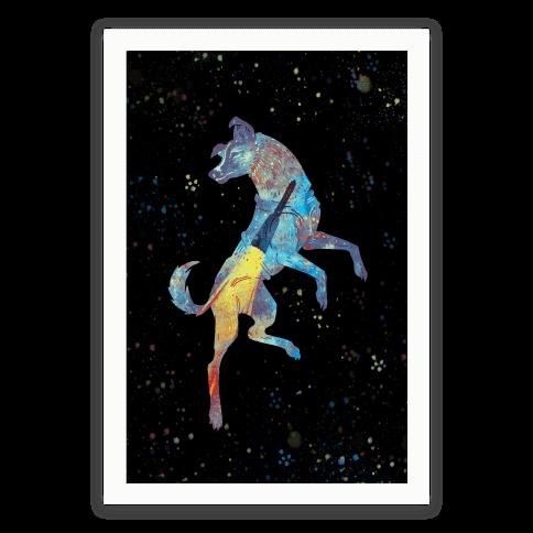 Astronaut Dog Laika Poster