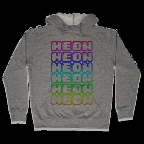 Meow Rainbow Hooded Sweatshirt