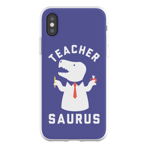Teacher Saurus Tie Phone Flexi-Case