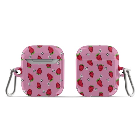 Sketchy Strawberry Pattern AirPod Case