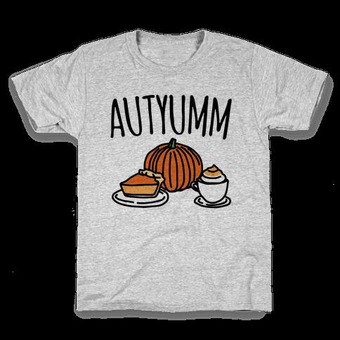 Autyumm Autumn Foods Parody Kids T-Shirt