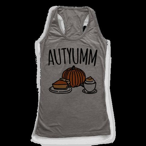 Autyumm Autumn Foods Parody Racerback Tank Top
