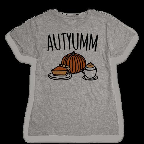 Autyumm Autumn Foods Parody Womens T-Shirt