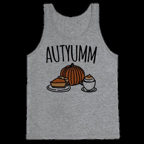 Autyumm Autumn Foods Parody Tank Top