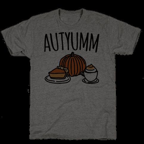 Autyumm Autumn Foods Parody Mens T-Shirt