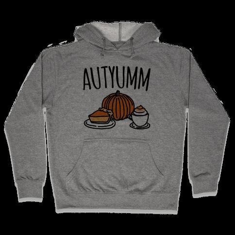 Autyumm Autumn Foods Parody Hooded Sweatshirt