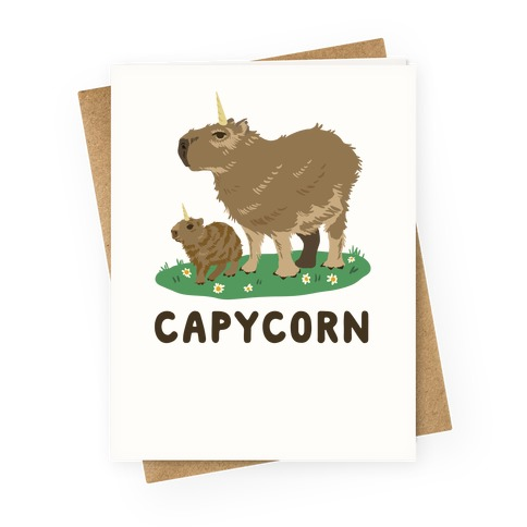 Capycorn Greeting Card