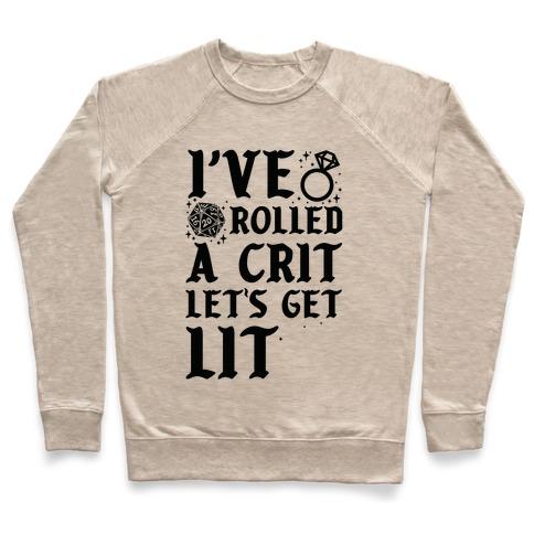 I've Rolled a Crit Let's Get Lit Wedding Pullover