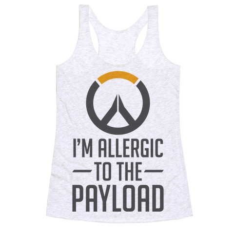 I'm Allergic to the Payload Racerback Tank Top
