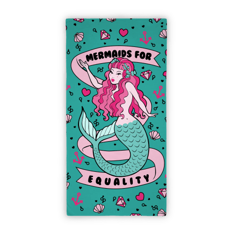 Mermaids For Equality Feminists Beach Towel