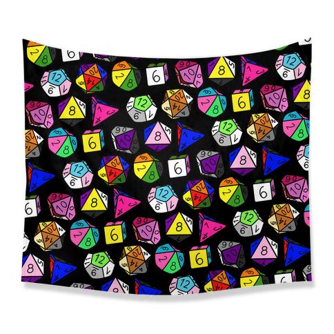 LGBTQ+ Pride Dice Tapestry