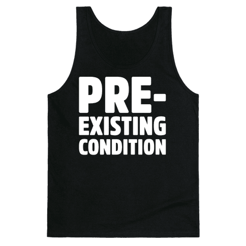 Pre-Existing Condition White Print Tank Top