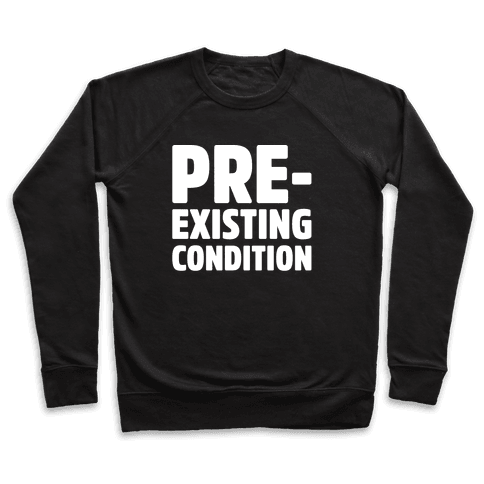Pre-Existing Condition White Print Pullover