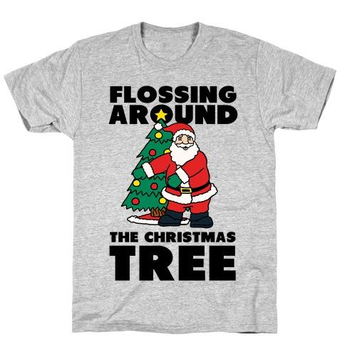 Flossing Around the Christmas Tree T-Shirt