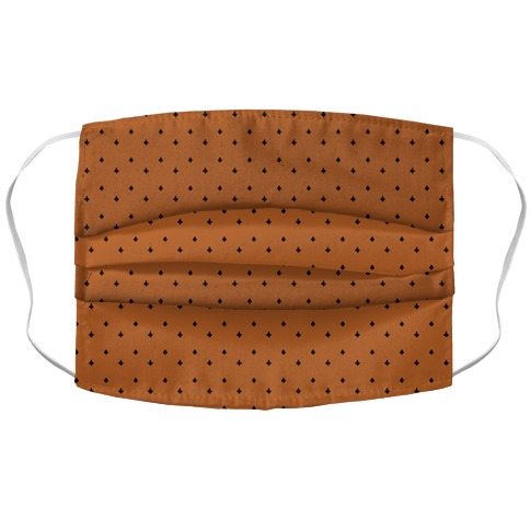 Dainty Stars Pattern Rust Orange Accordion Face Mask