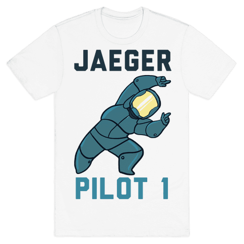 Jaeger Pilot 1 (1 of 2 set) Mens T-Shirt