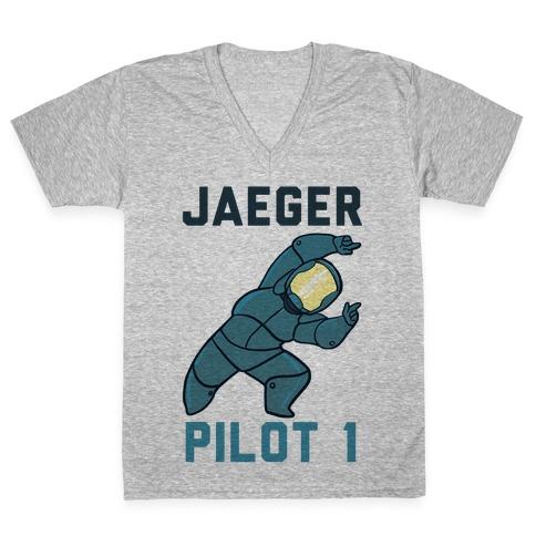 Jaeger Pilot 1 (1 of 2 set) V-Neck Tee Shirt