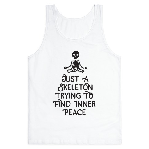 Skeleton Peace Tank Top