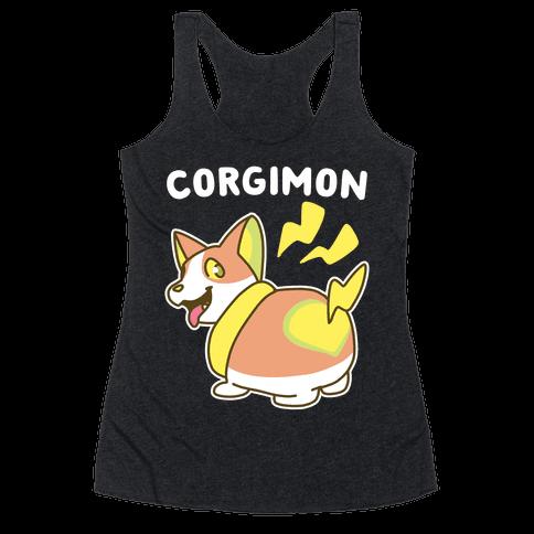 Corgimon Racerback Tank Top