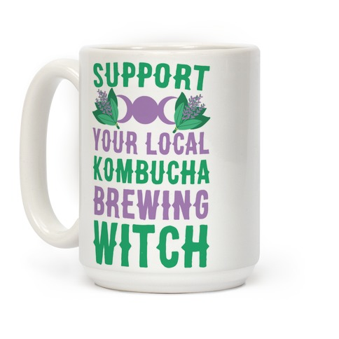 Support Your Local Kombucha-Brewing Witch Coffee Mug