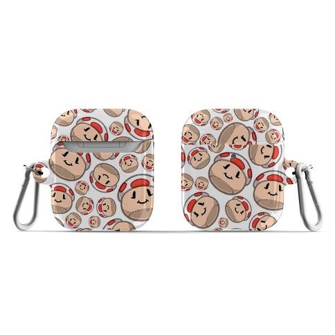 Stuffed Shrooms Pattern AirPod Case
