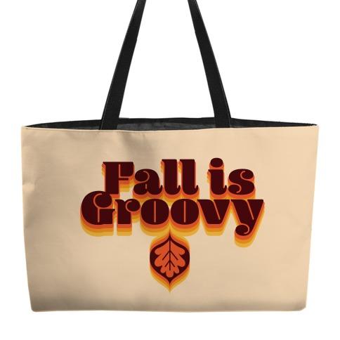 Fall Is Groovy Weekender Tote