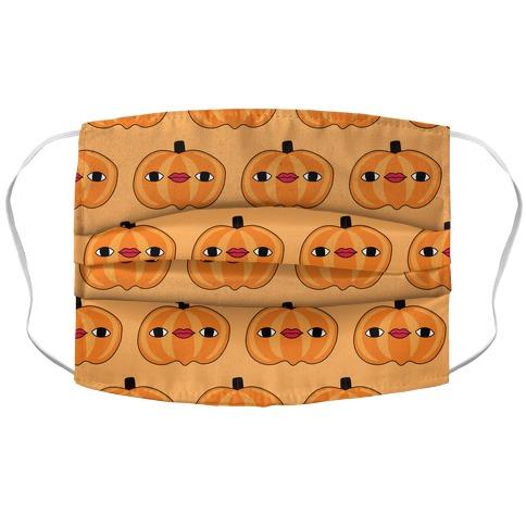 Pumpkin Stare Pattern Accordion Face Mask