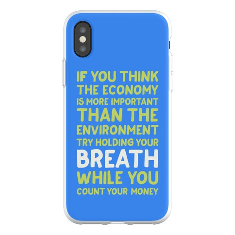 Try Holding Your Breath Phone Flexi-Case