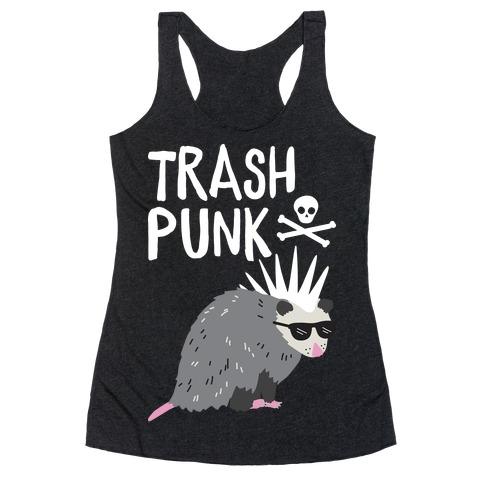 Trash Punk Possum Racerback Tank Top