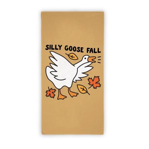 Silly Goose Fall Beach Towel