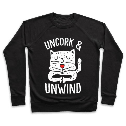 Uncork And Unwind Yoga Cat Pullover