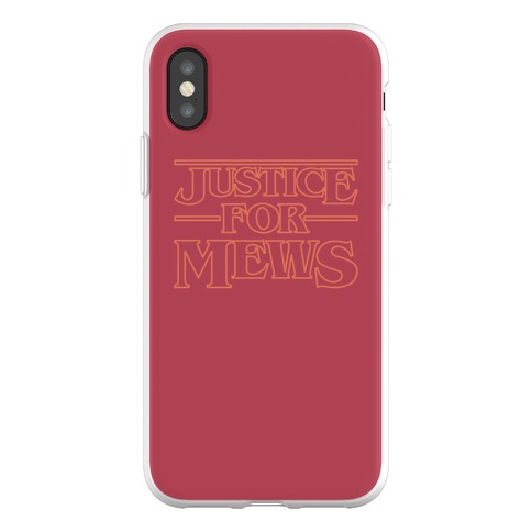 Justice For Mews Phone Flexi-Case