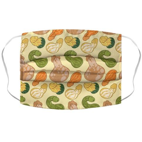 Phallic Gourd Pattern Accordion Face Mask