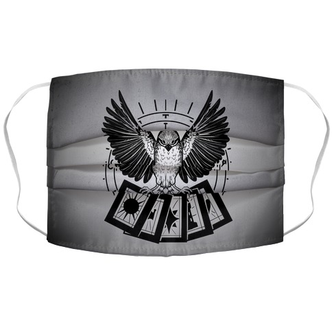 Tarot Sparrow Accordion Face Mask