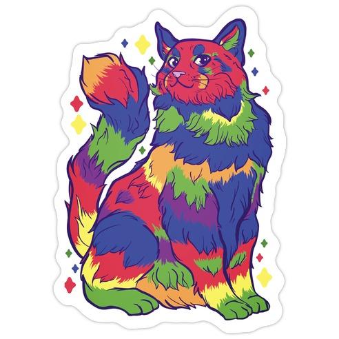 Gay Pride Cat Die Cut Sticker