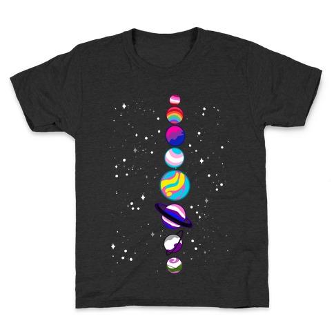 LGBTQ+ Planets Kids T-Shirt