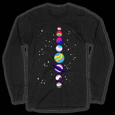 LGBTQ+ Planets Long Sleeve T-Shirt