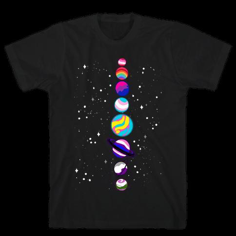 LGBTQ+ Planets Mens/Unisex T-Shirt