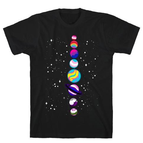 LGBTQ+ Planets T-Shirt