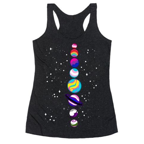 LGBTQ+ Planets Racerback Tank Top